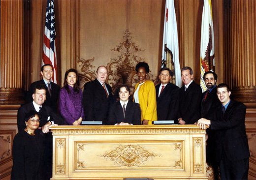 January 8th, 2003 Supervisors Inauguration Photo