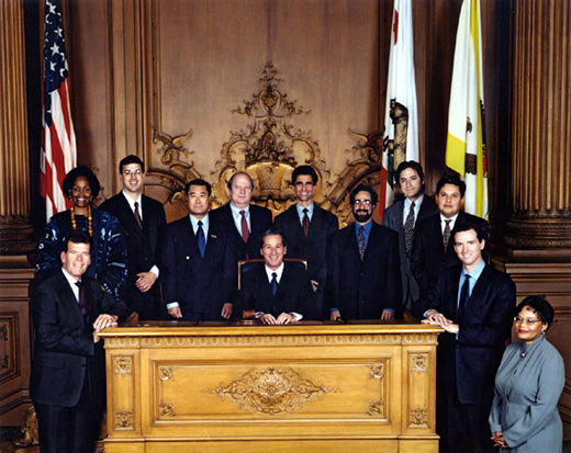 January 8th, 2001 Supervisors Inauguration Photo