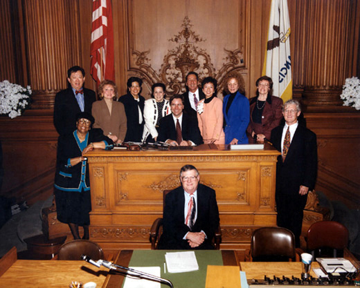 January 8th, 1995 Supervisors Inauguration Photo