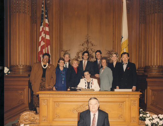 January 8th, 1993 Supervisors Inauguration Photo