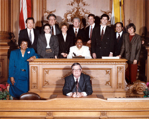 January 8th, 1991 Supervisors Inauguration Photo
