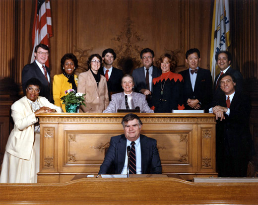 January 8th, 1987 Supervisors Inauguration Photo